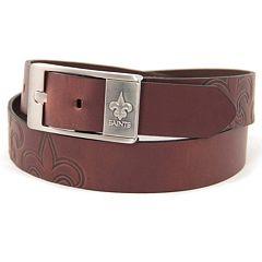 Men's New Orleans Saints Brandish Leather Belt