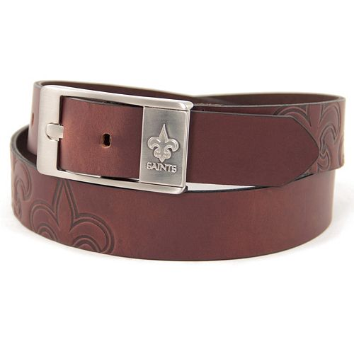 Men's New Orleans Saints Brandish Leather Belt