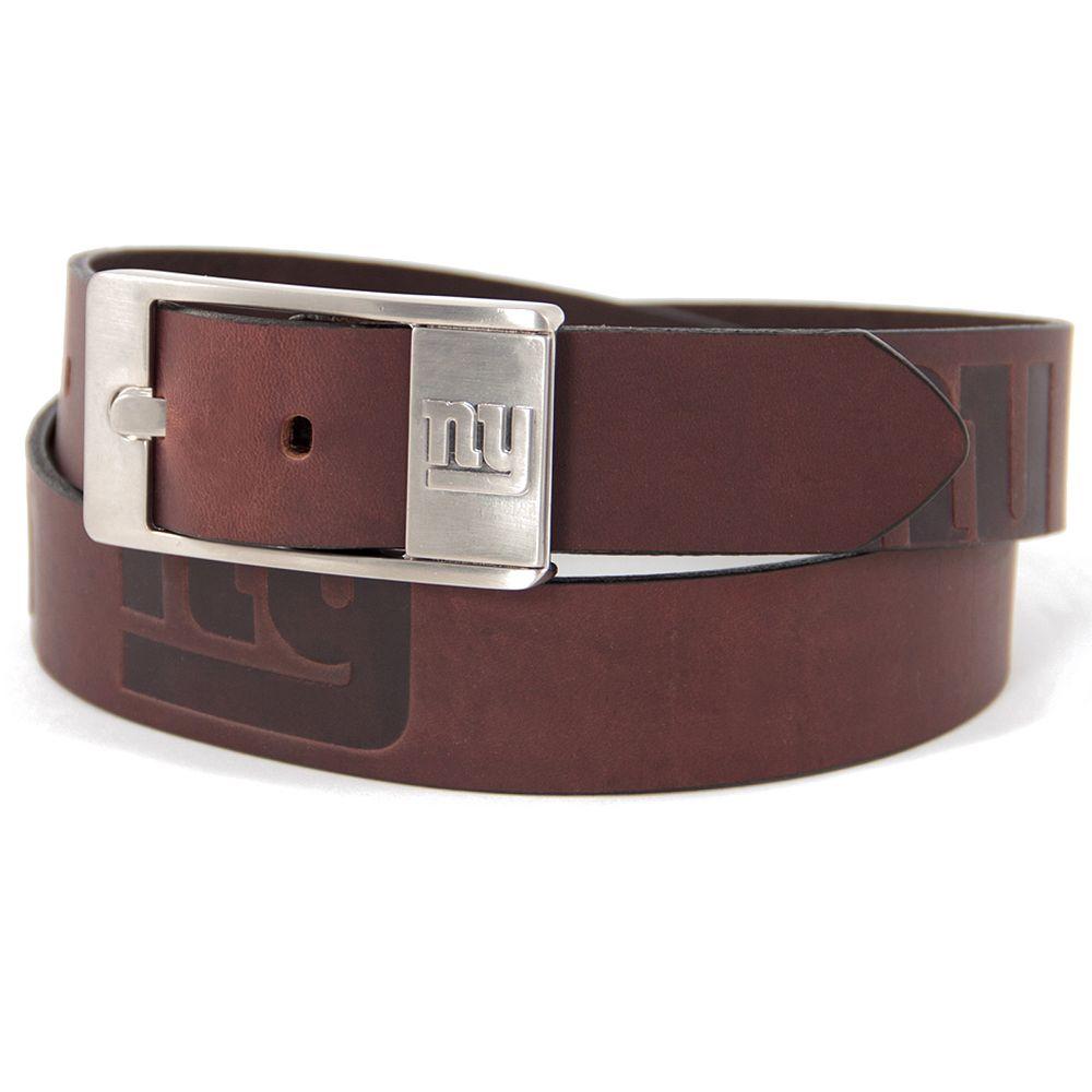Men's New York Giants Brandish Leather Belt