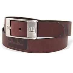 Men's New York Giants Brandish Leather Belt