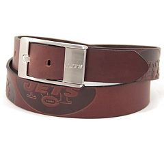 Men's New York Jets Brandish Leather Belt