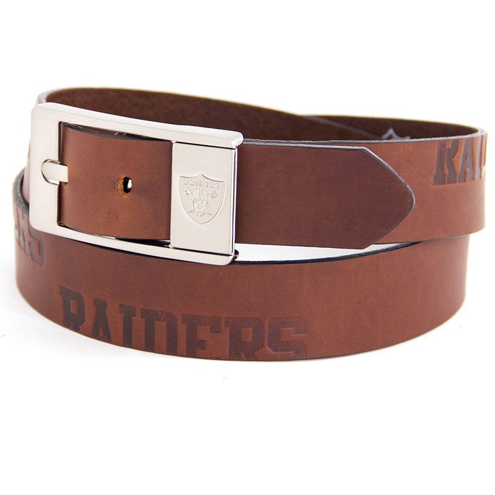 Men's Oakland Raiders Brandish Leather Belt
