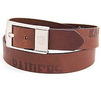 Men's Oakland Raiders Brandish Leather Belt
