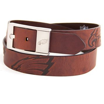 Men's Philadelphia Eagles Brandish Leather Belt