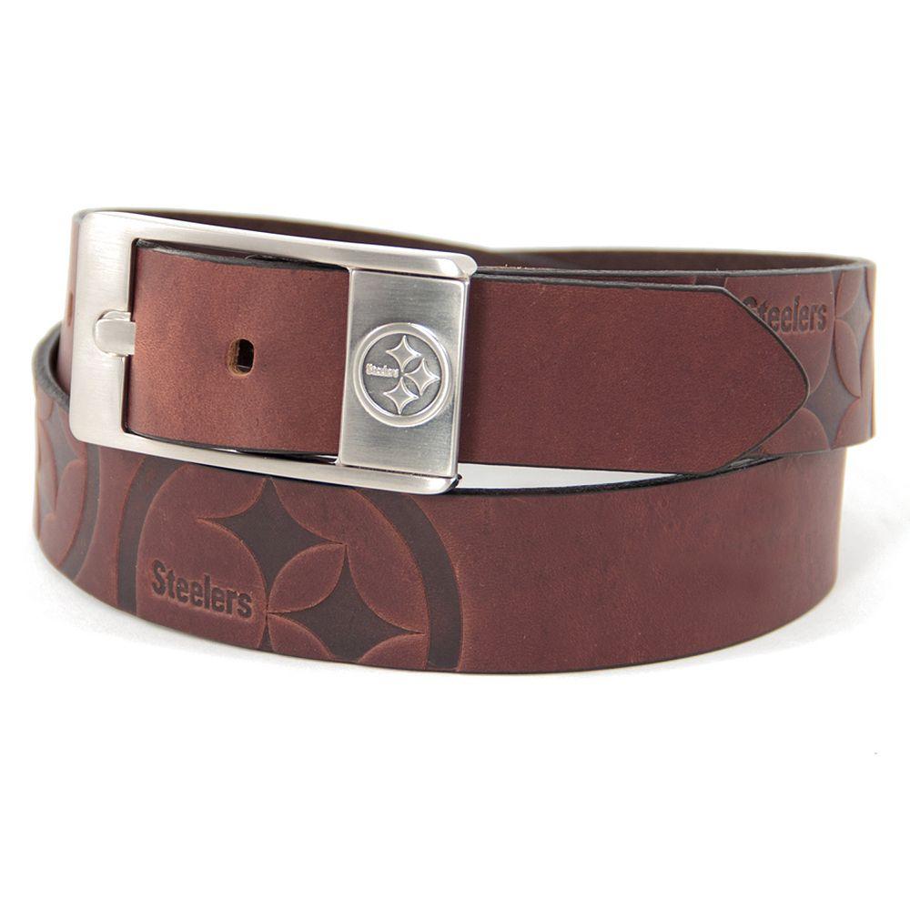 Men's Pittsburgh Steelers Brandish Leather Belt