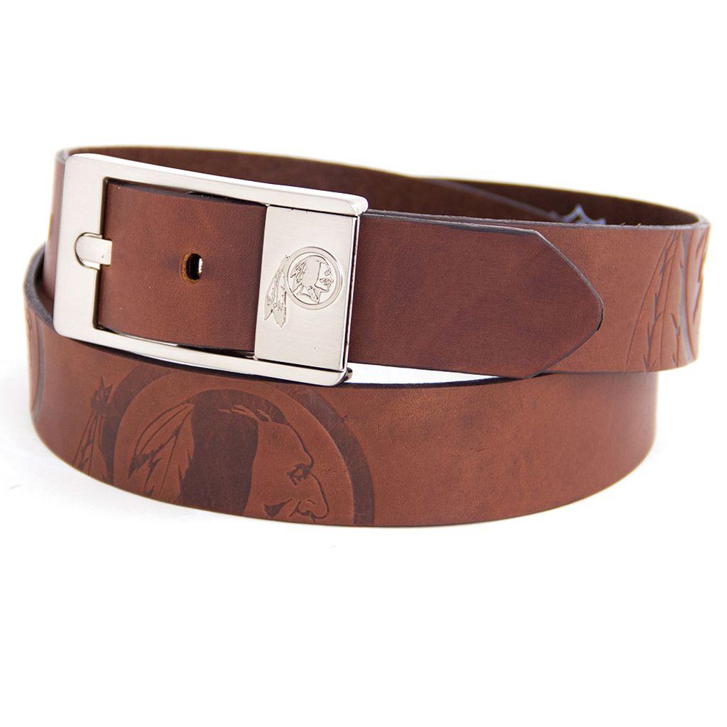 Men's Washington Redskins Brandish Leather Belt
