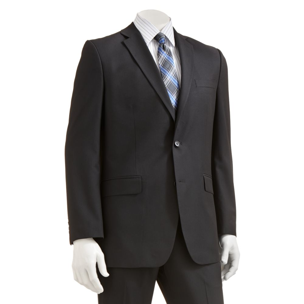 Apt. 9® Slim-Fit Striped Black Suit Separates - Men
