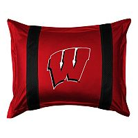 Wisconsin Badgers Standard Pillow Sham
