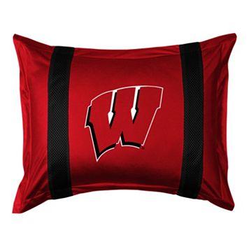 Wisconsin Badgers Standard Pillow Sham