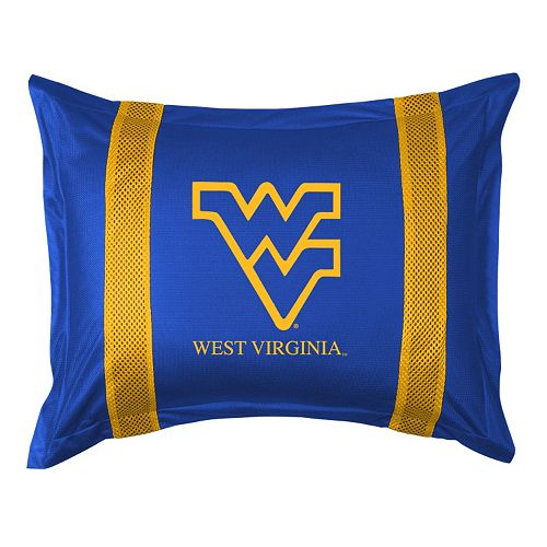 West Virginia Mountaineers Standard Pillow Sham