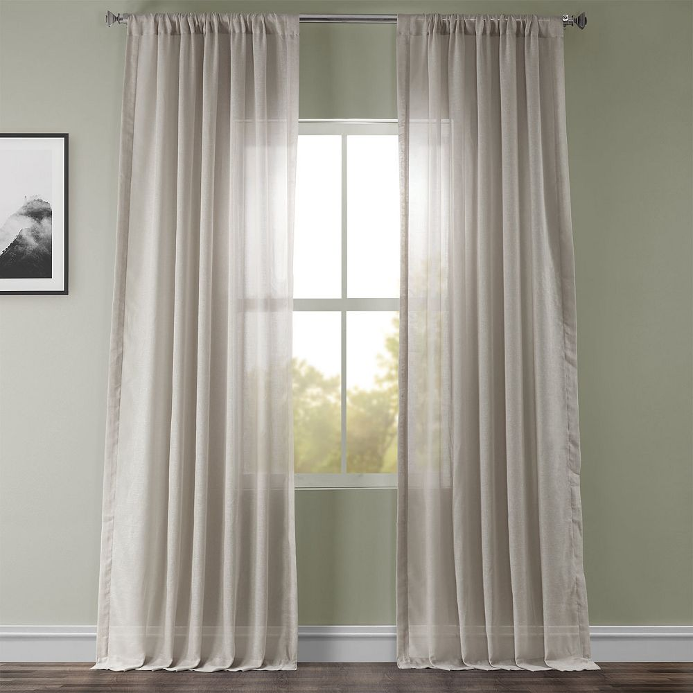 EFF 1-pack Solid Sheer Window Curtain