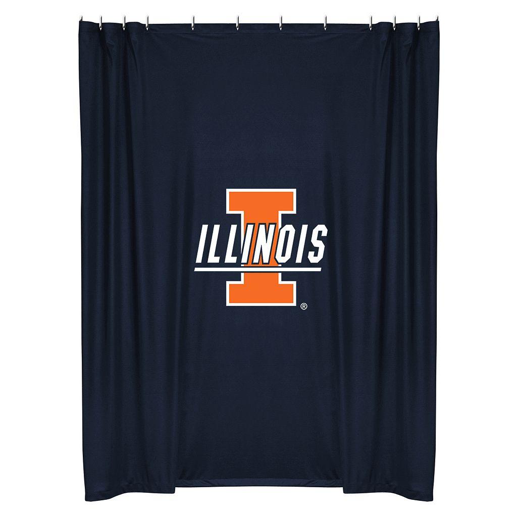 Illinois Fighting Illini Shower Curtain