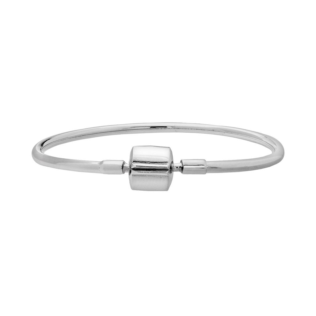 Individuality Beads Sterling Silver Bangle Bracelet
