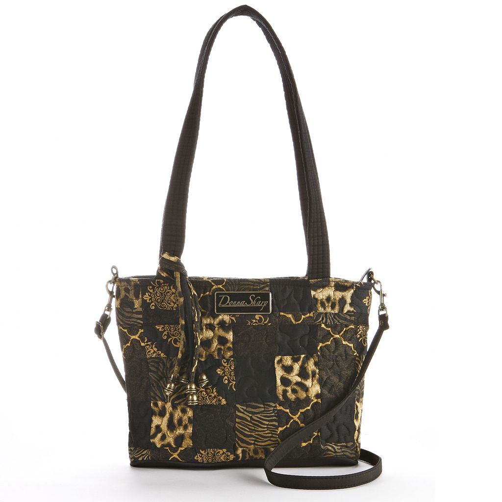 Donna Sharp Jenna Quilted Patchwork Convertible Tote