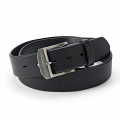 Men's Levi's® Logo Buckle Leather Belt