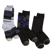 Boys GOLDTOE 3 pkSolid and Patterned Dress Socks