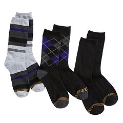Boys GOLDTOE 3-pk Solid and Patterned Dress Socks