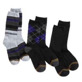 Boys GOLDTOE 3-pk Solid and Patterned Dress Socks