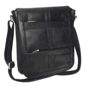 Royce Leather Vaquetta Vertical Laptop Messenger Bag