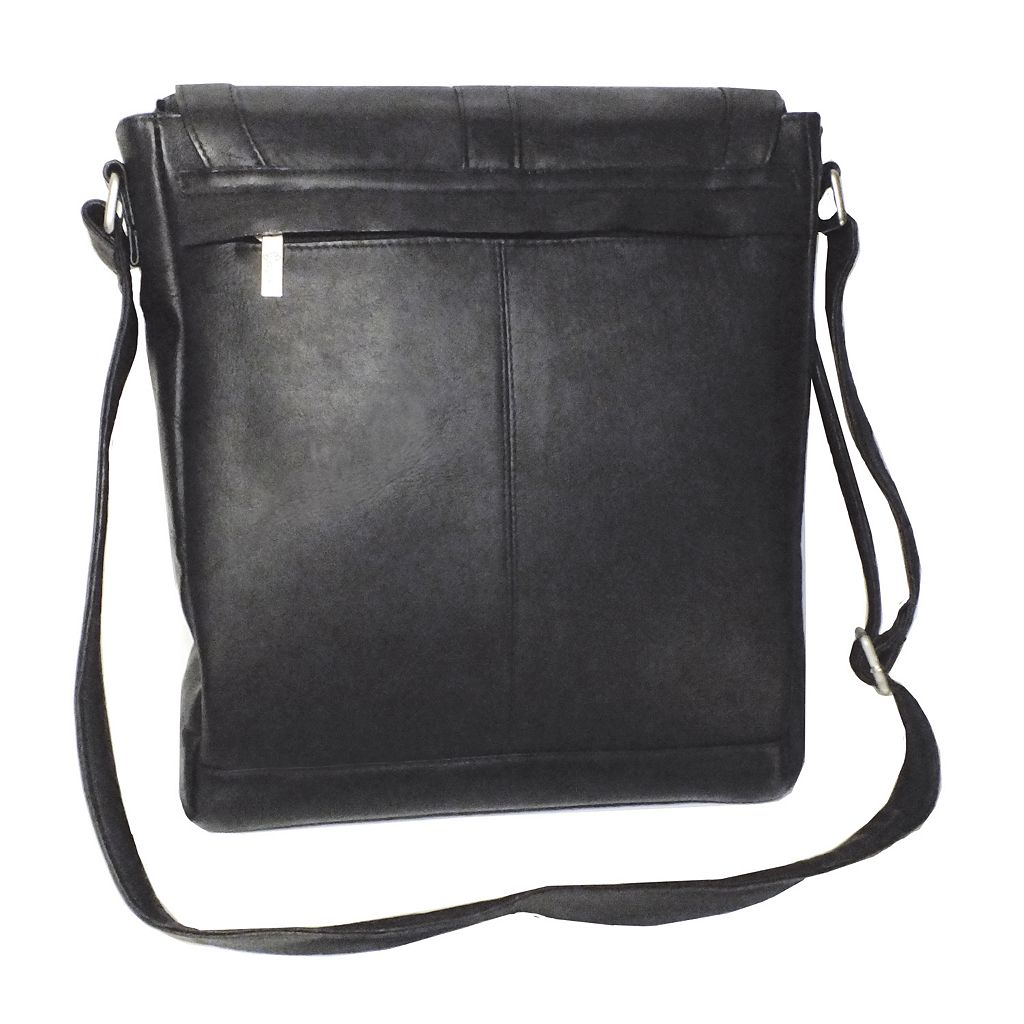 Royce Leather Vaquetta Vertical Laptop Messenger Bag