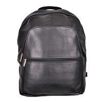 Royce Leather Vaquetta 15-in. Black Laptop Backpack