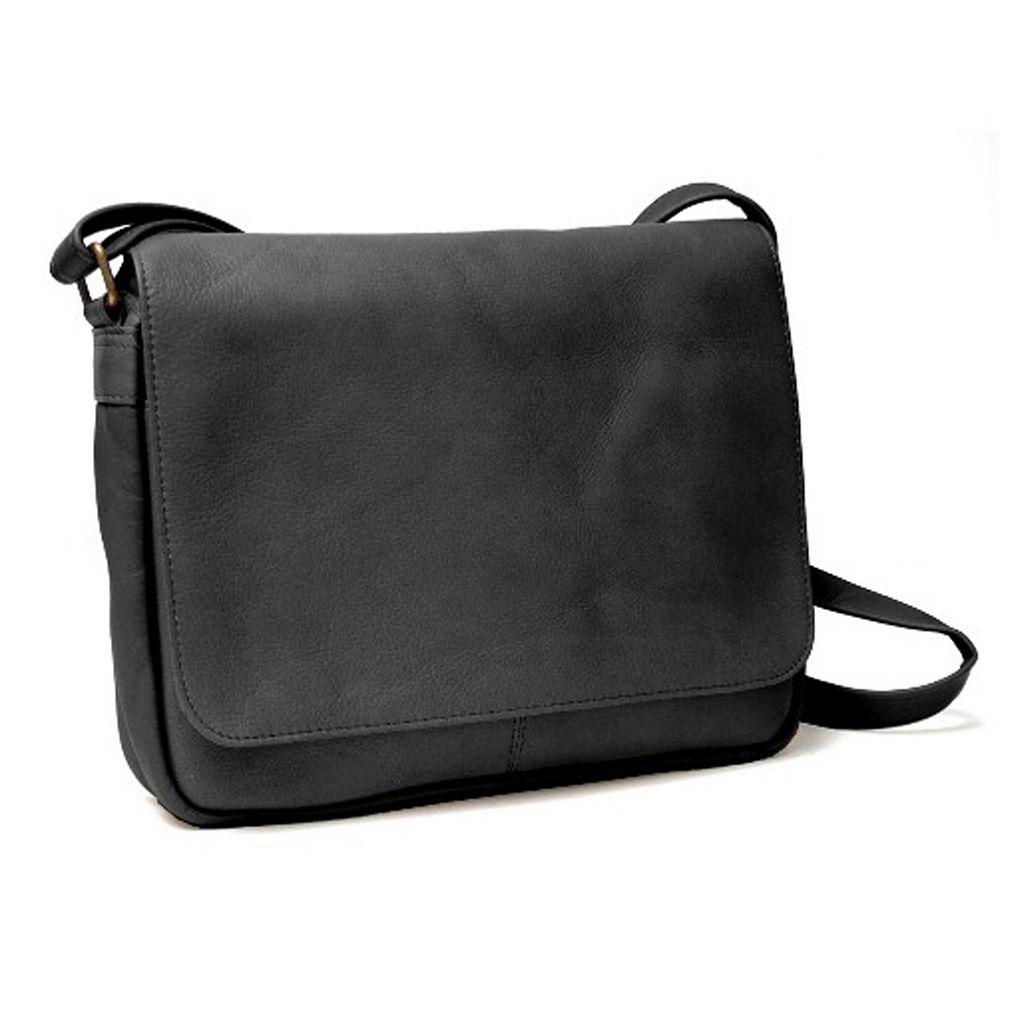 Royce Leather Vaquetta Flap Front Shoulder Bag