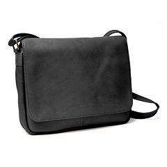 Royce Leather Vaquetta Flap Front Shoulder Bag