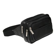 Royce Leather VaquettaMulti-Compartment Fanny Pack