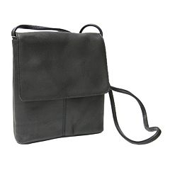 Royce Leather Vaquetta Small Flapover Crossbody Bag