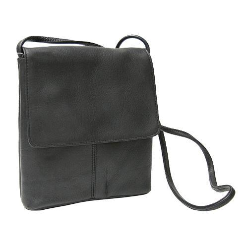 Royce Leather Vaquetta Small Flapover Crossbody Bag