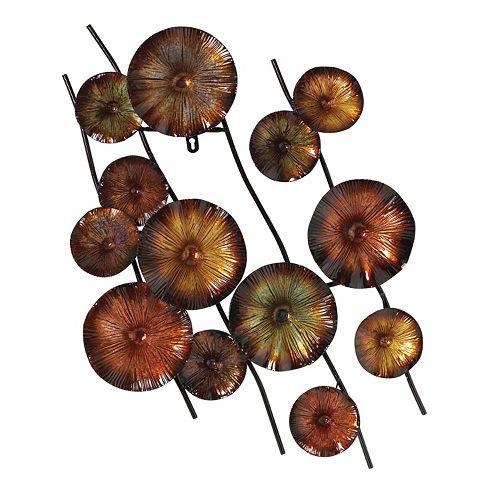 Metal Flower Wall Decor Kohls : View larger