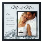 Malden ''Mr. & Mrs.'' 8'' x 10'' Frosted Glass Frame