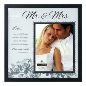 Malden ''Mr. and Mrs.'' 8'' x 10'' Frosted Glass Frame