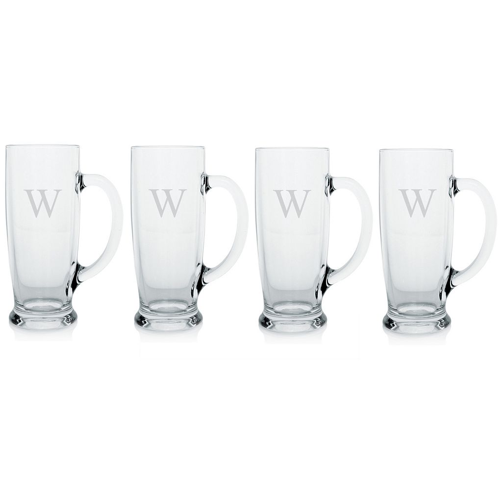Cathy's Concepts 4-pc. Monogram Craft Beer Mug Set