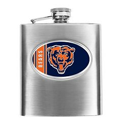 Chicago Bears Stainless Steel Hip Flask