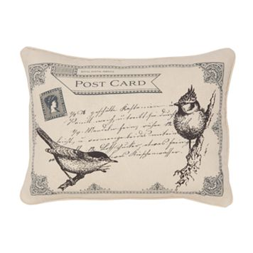 Histoire Postcard Decorative Pillow
