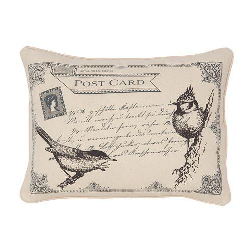 Histoire Postcard Decorative Pillow