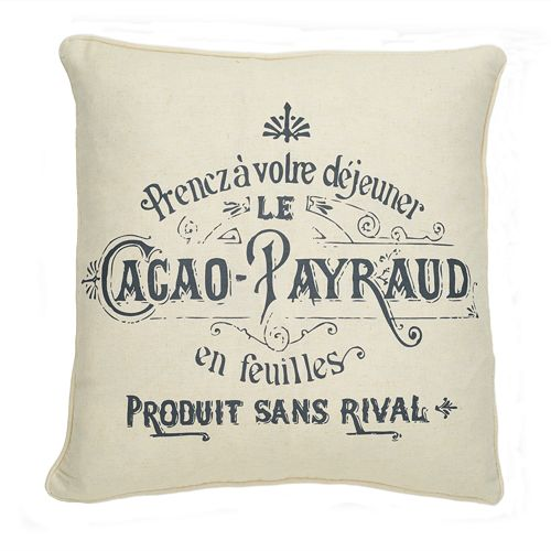 Histoire Cacao Decorative Pillow