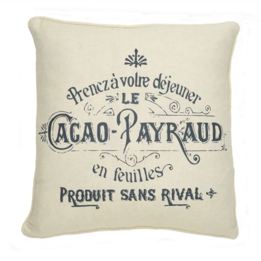 Histoire Cacao Decorative Pillow