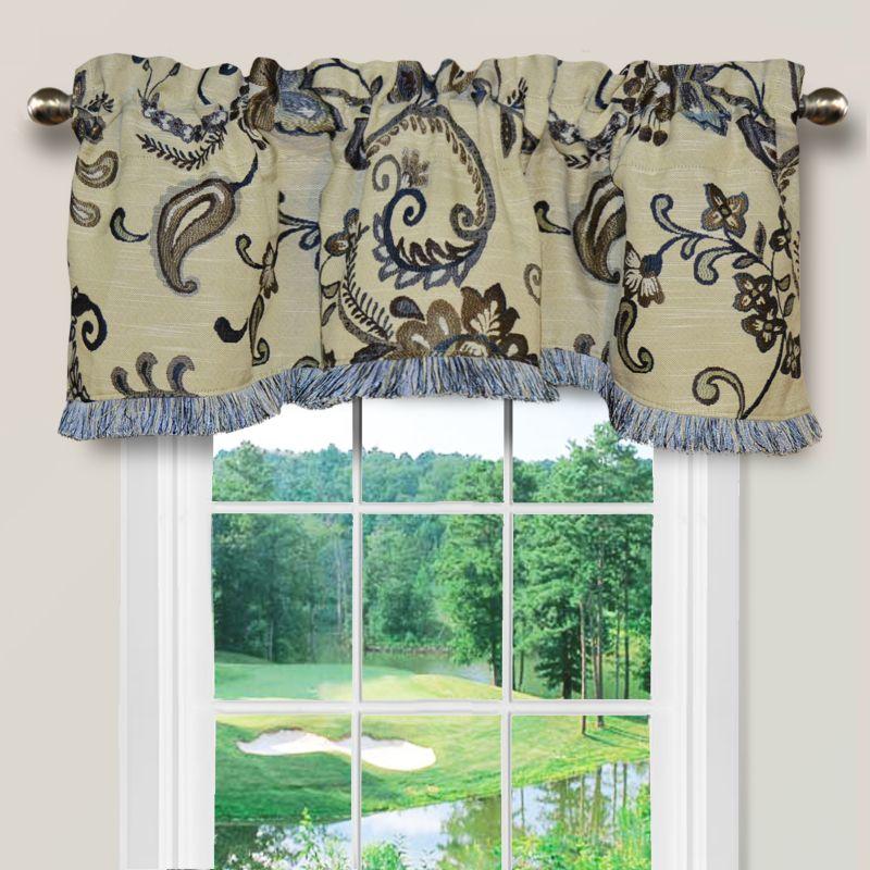 Jacobean Floral Window Valance - 52'' x 16''