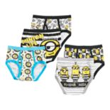 Boys Despicable Me 2 Minion 5 pkBriefs