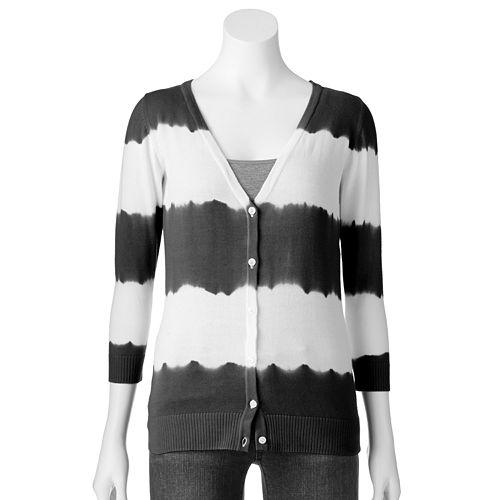 6438e1754d4 Women s AB Studio Striped Tie-Dye Cardigan