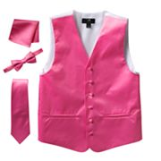Men's Steven Land Solid 4 pc Vest Set