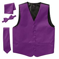 Men's Steven Land Solid 4 pc Vest Set