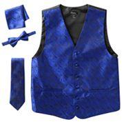 Steven Land Paisley 4 pc Vest Set - Men