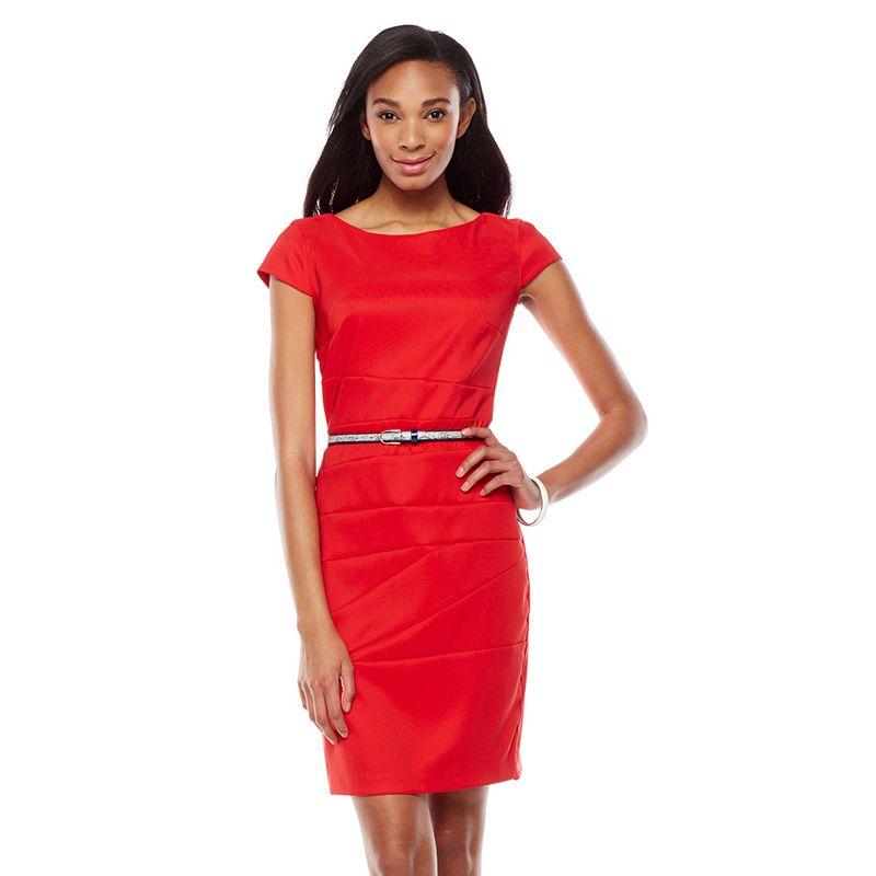 ab studio pieced sheath dress women 39 s