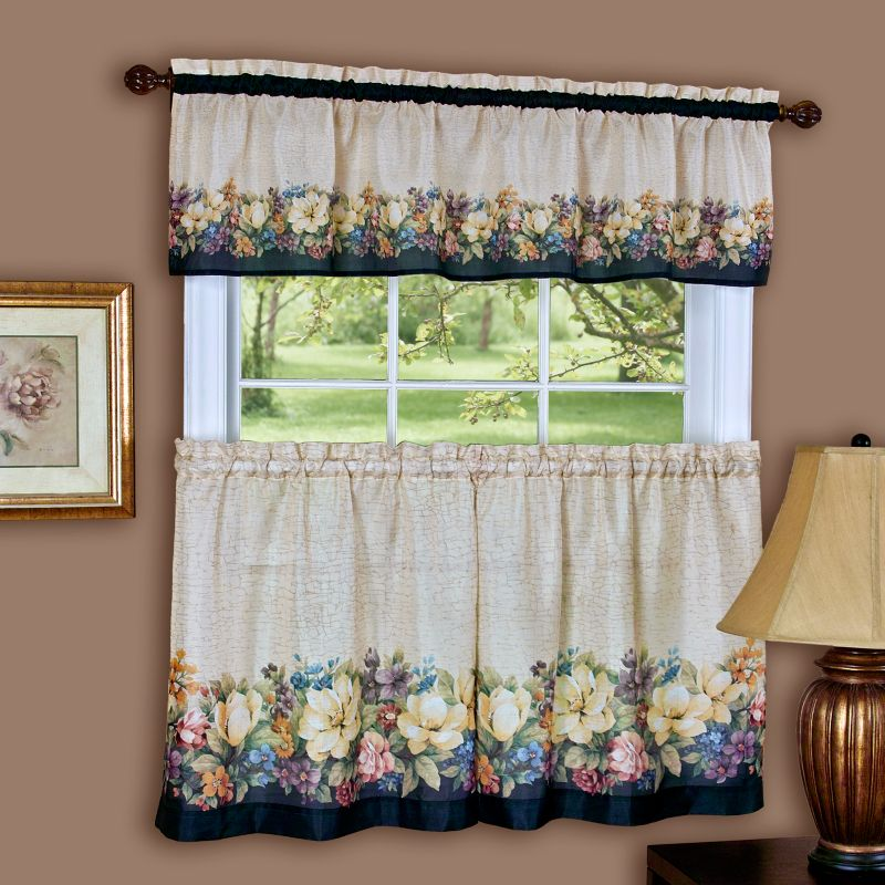 Battenburg Floral Tier Curtain Pair  6039;39; x 2439;39;