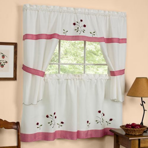 Apple Orchard 5pc. Swag Tier Cottage Kitchen Curtain Set