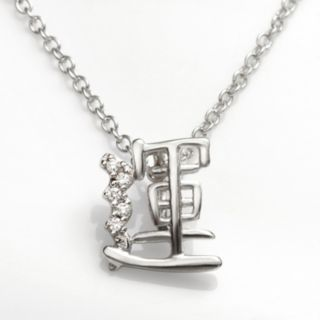 Sophie Miller Sterling Silver Cubic Zirconia Fortune Chinese Symbol Pendant