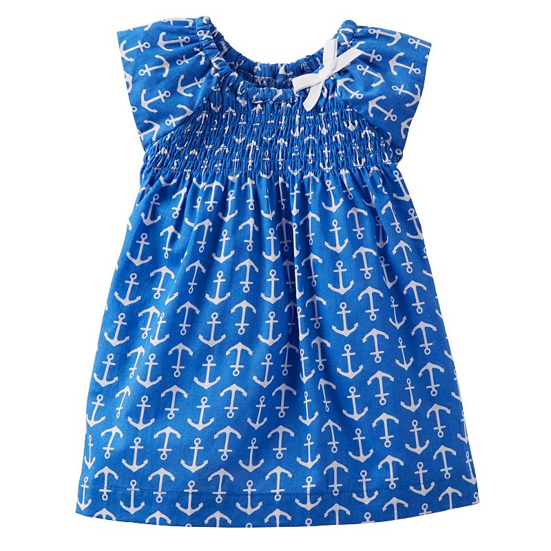 Carter's Anchor Smocked Dress - Baby